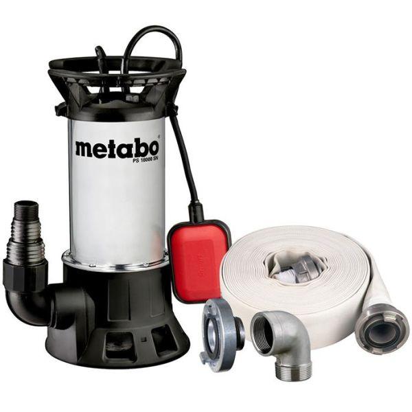 Metabo PS 18000SN Skittenvannspumpe med slange og kobling