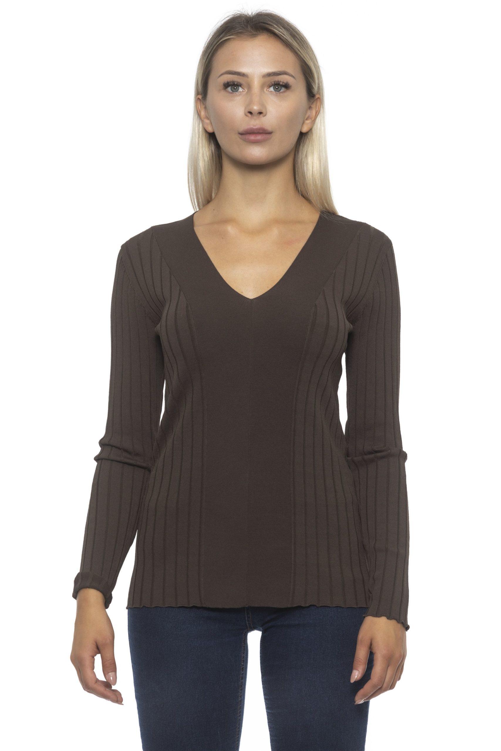Alpha Studio Women's Moka Sweater Brown AL1314876 - IT42 | S
