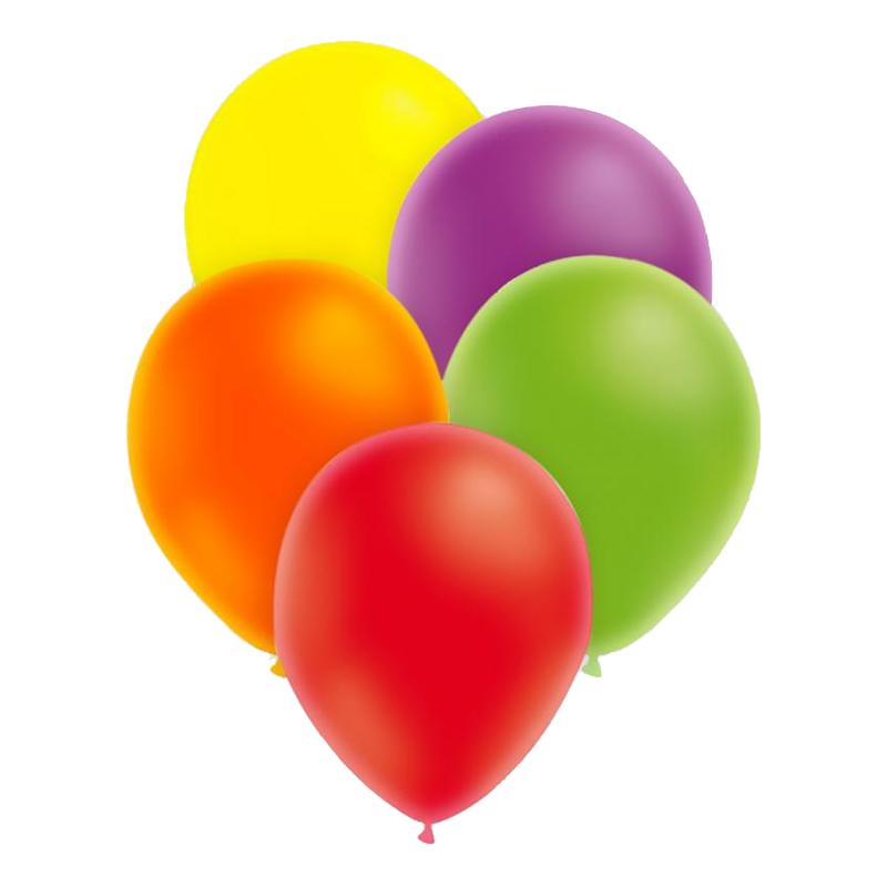 Ballonger Neon Flerfärgade - 25-pack Blandade