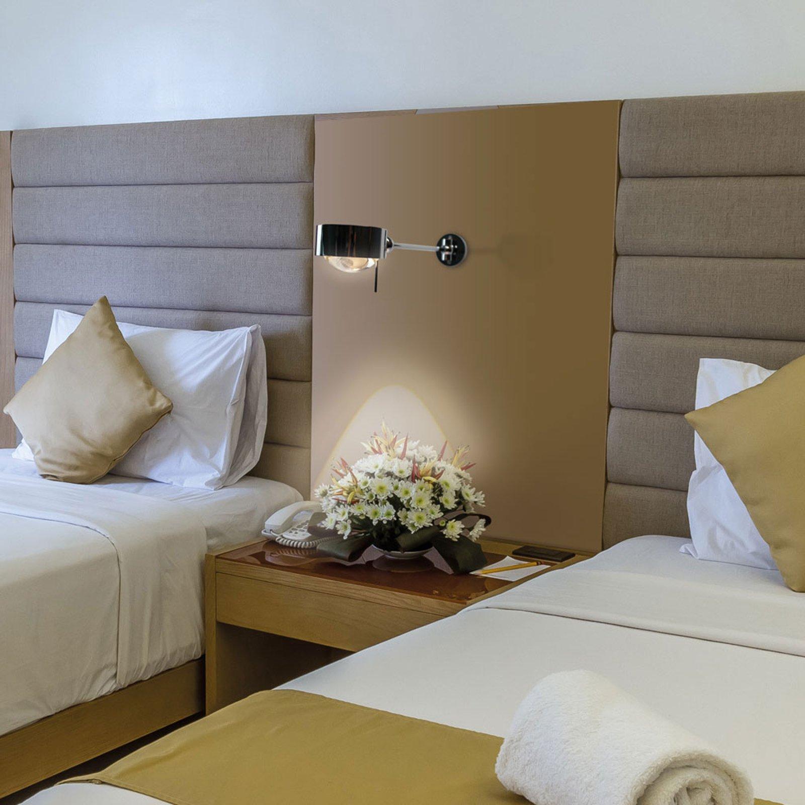 Leselampe Puk Maxx Hotel, 34 cm, krom