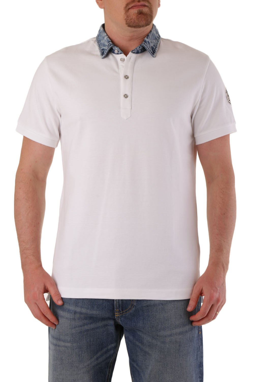 Diesel Men's Polo Shirt Various Colours 283901 - white-3 L