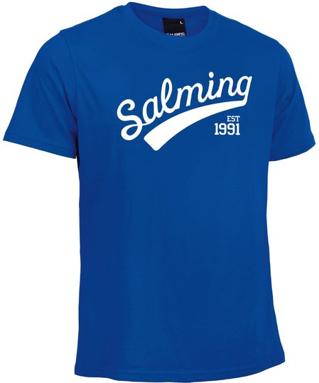 Salming Logo Tee JR T-skjorte, Royal Blue 128