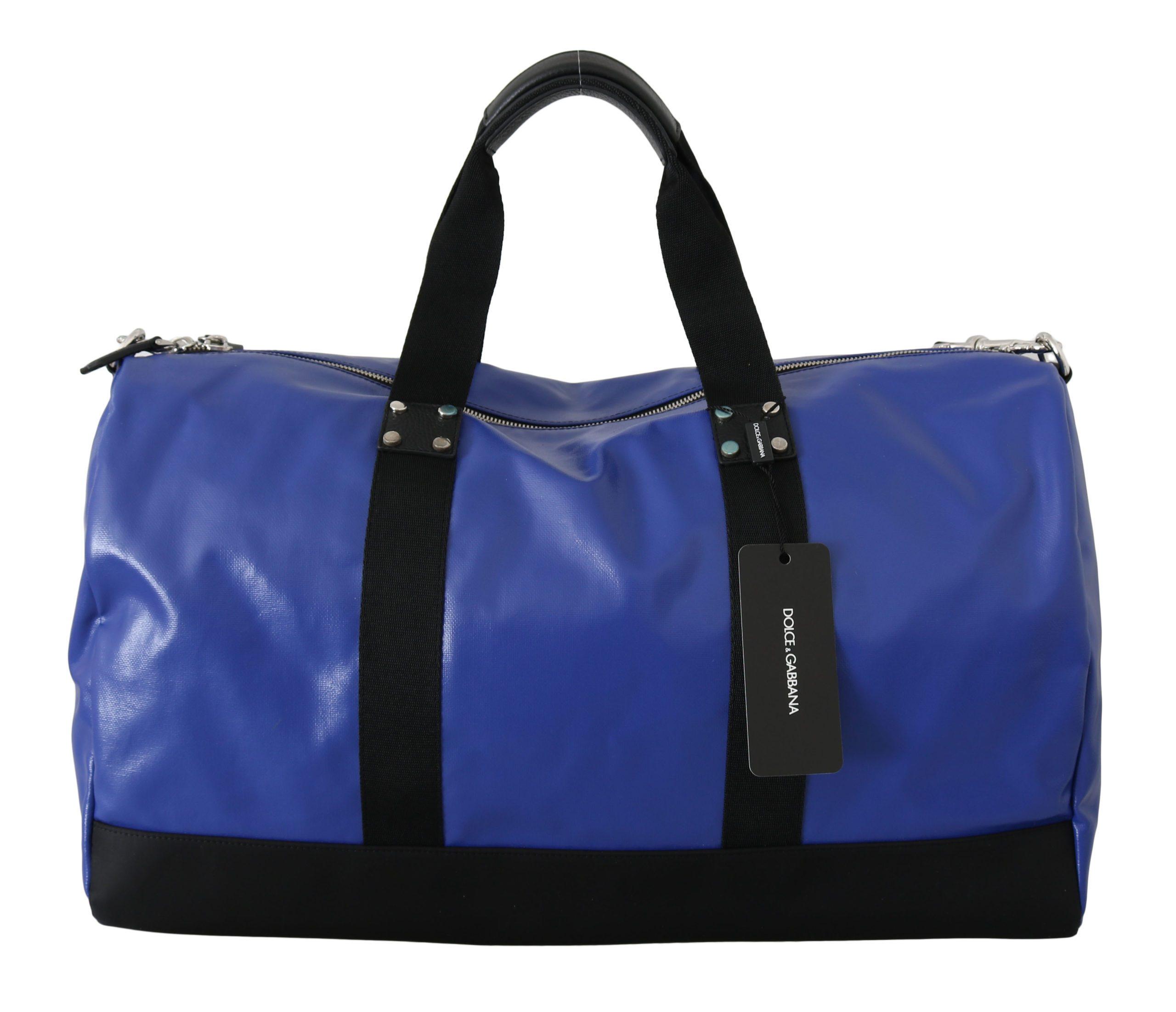 Dolce & Gabbana Men's Shoulder Sling Travel Luggage Blue VAS8791