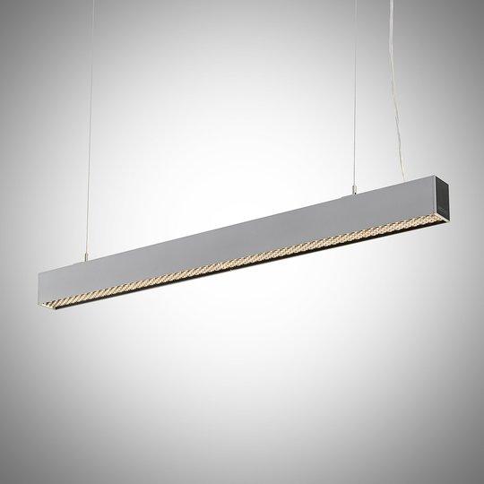 Arcchio Thores LED-riippuvalaisin 113cm hopea