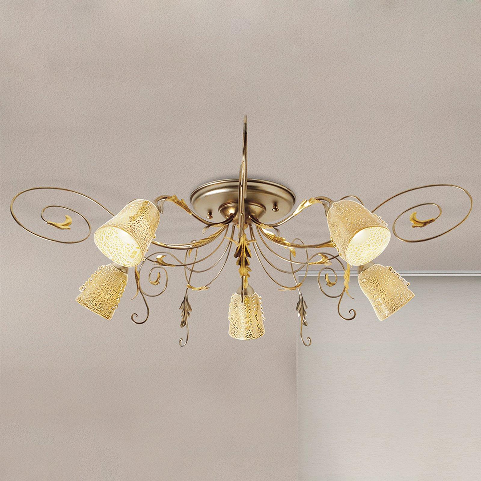 Ilaria taklampe 5 lyskilder