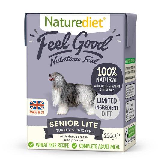 Naturediet Feel Good Senior Lite Kalkon & Kyckling (200 g)