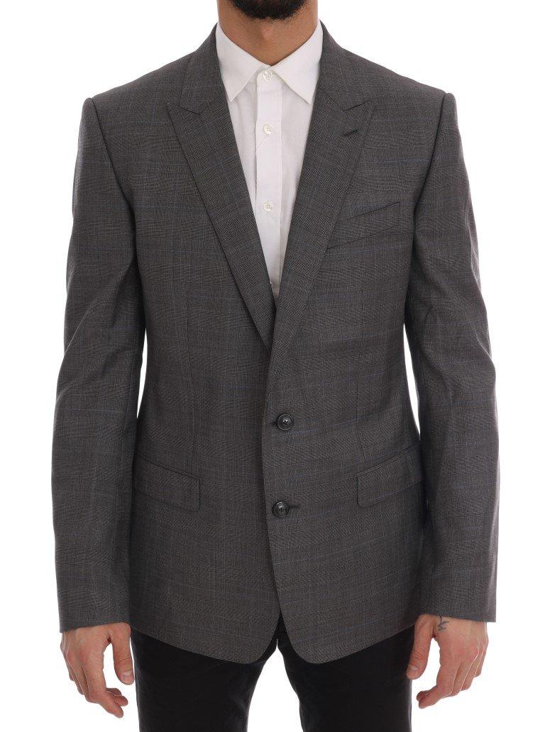 Dolce & Gabbana Men's Wool MARTINI Slim Blazer Gray KOS1163 - IT56 | XXL