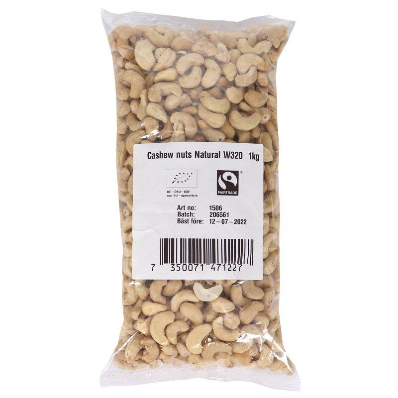 Eko Naturella Cashewnötter - 20% rabatt