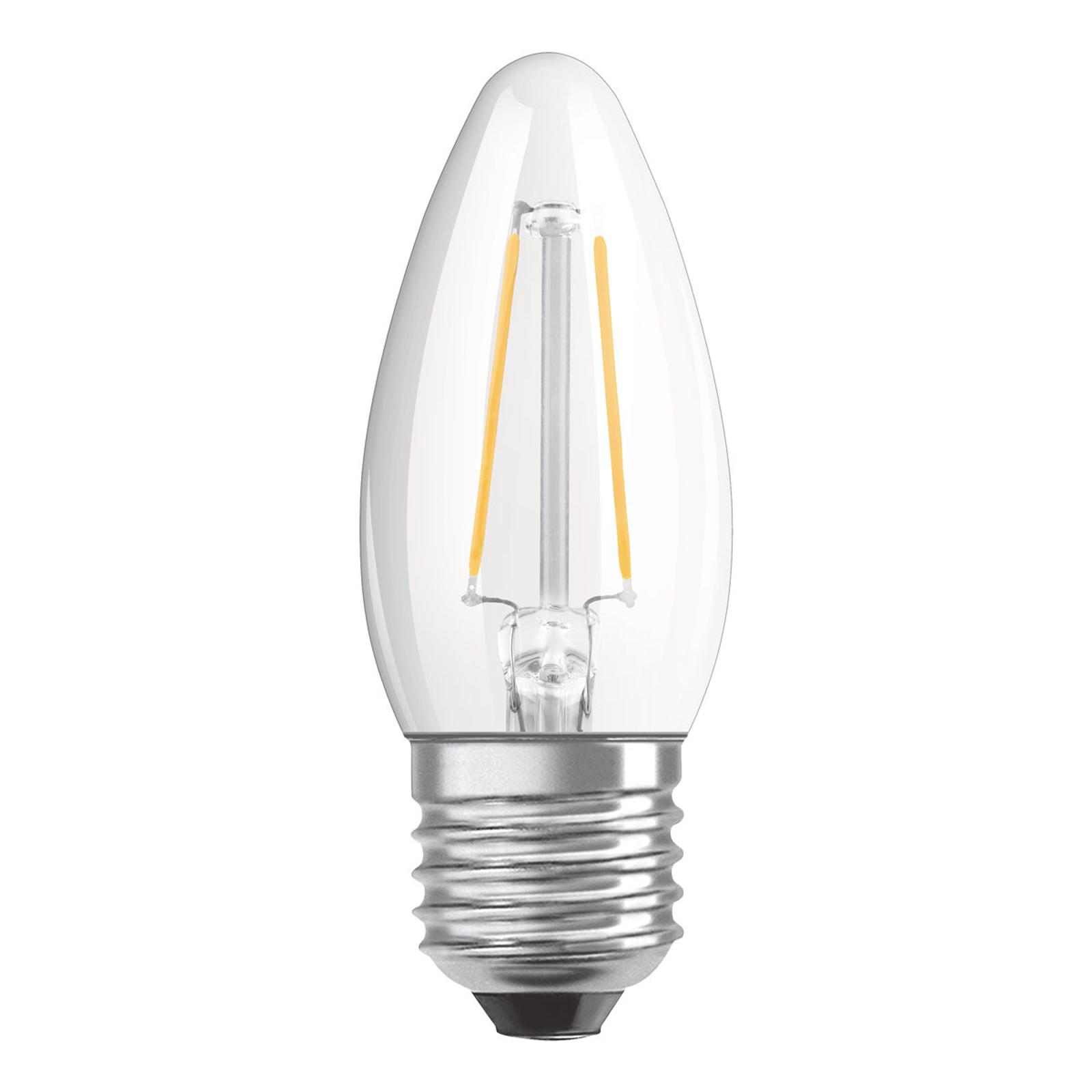 OSRAM-LED-kynttilä E27 4W Classic B 2 700 K kirkas