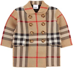 Burberry Archive Check Cora Knitted Kappa Beige 3 år