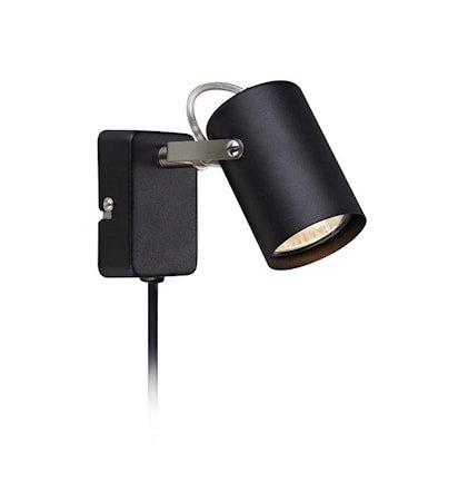 Key Vegglampe Svart/Stål