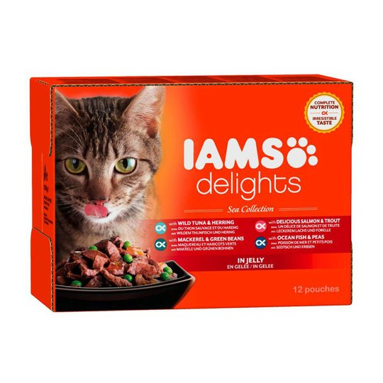 Iams Delights in jelly Multipack Sea