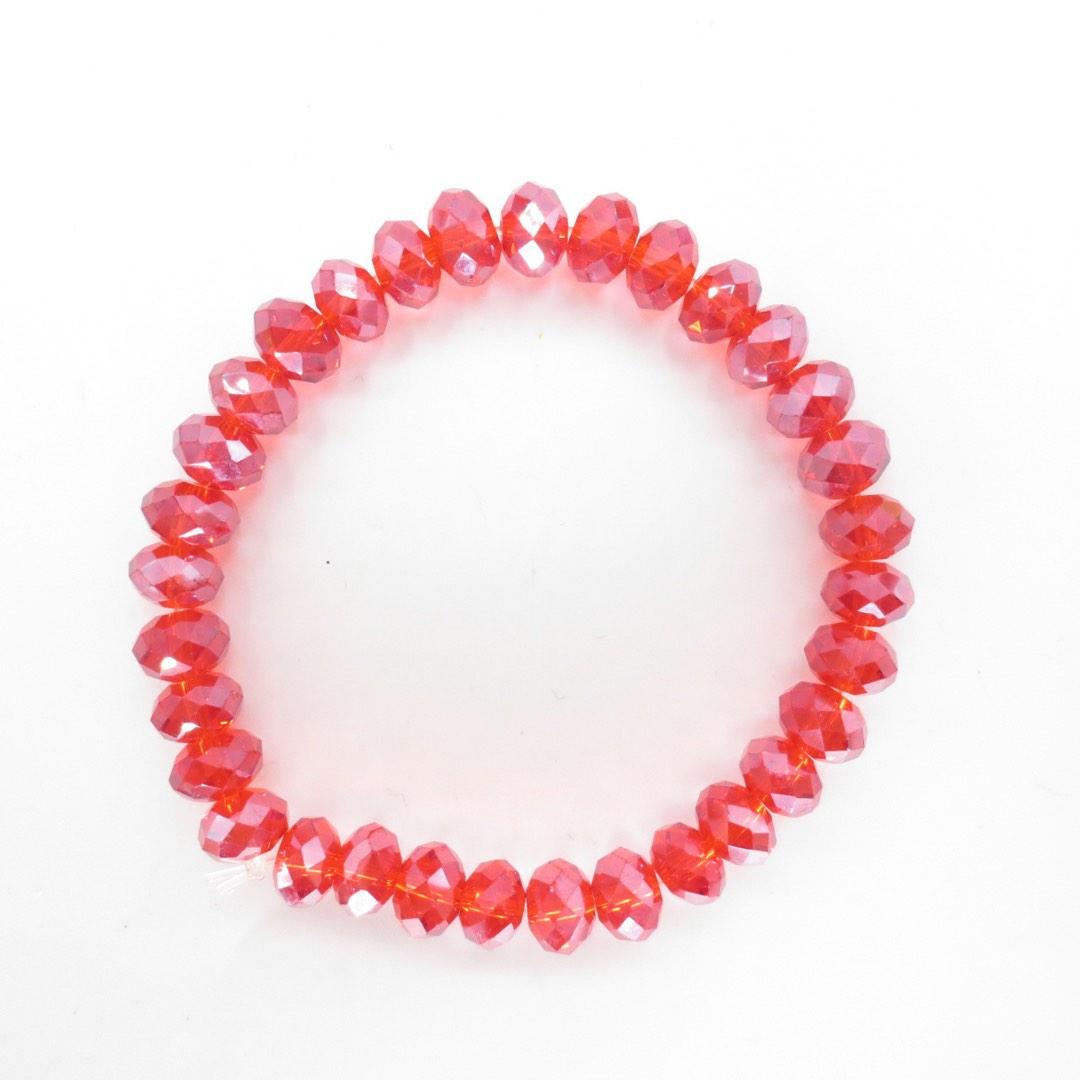 Armband i kristall - Röd
