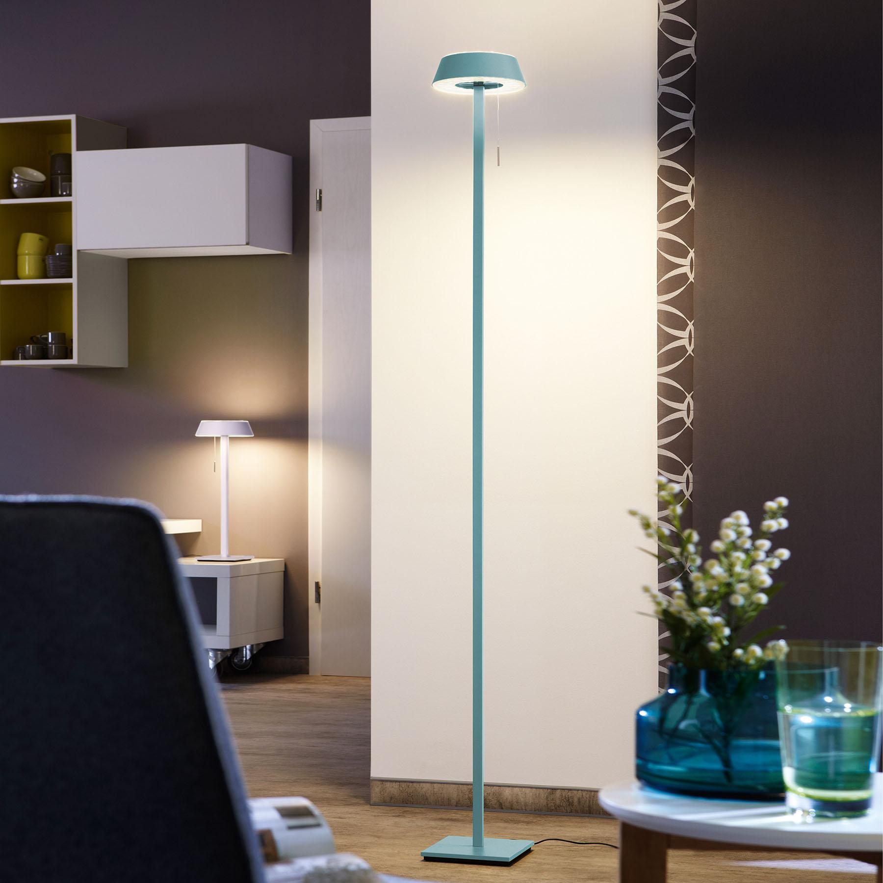 OLIGO Glance LED-lattiavalaisin, aquamariini