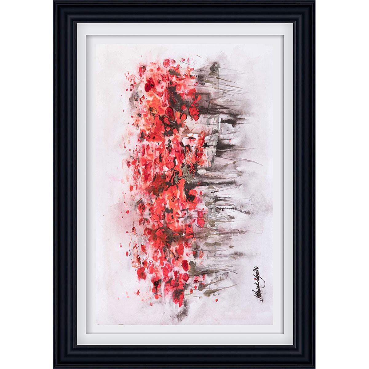 Urban Poppies Black - Medium