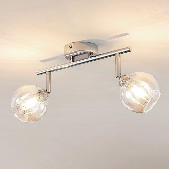 Lindby Pranas LED-kattovalaisin, kaksilamppuinen
