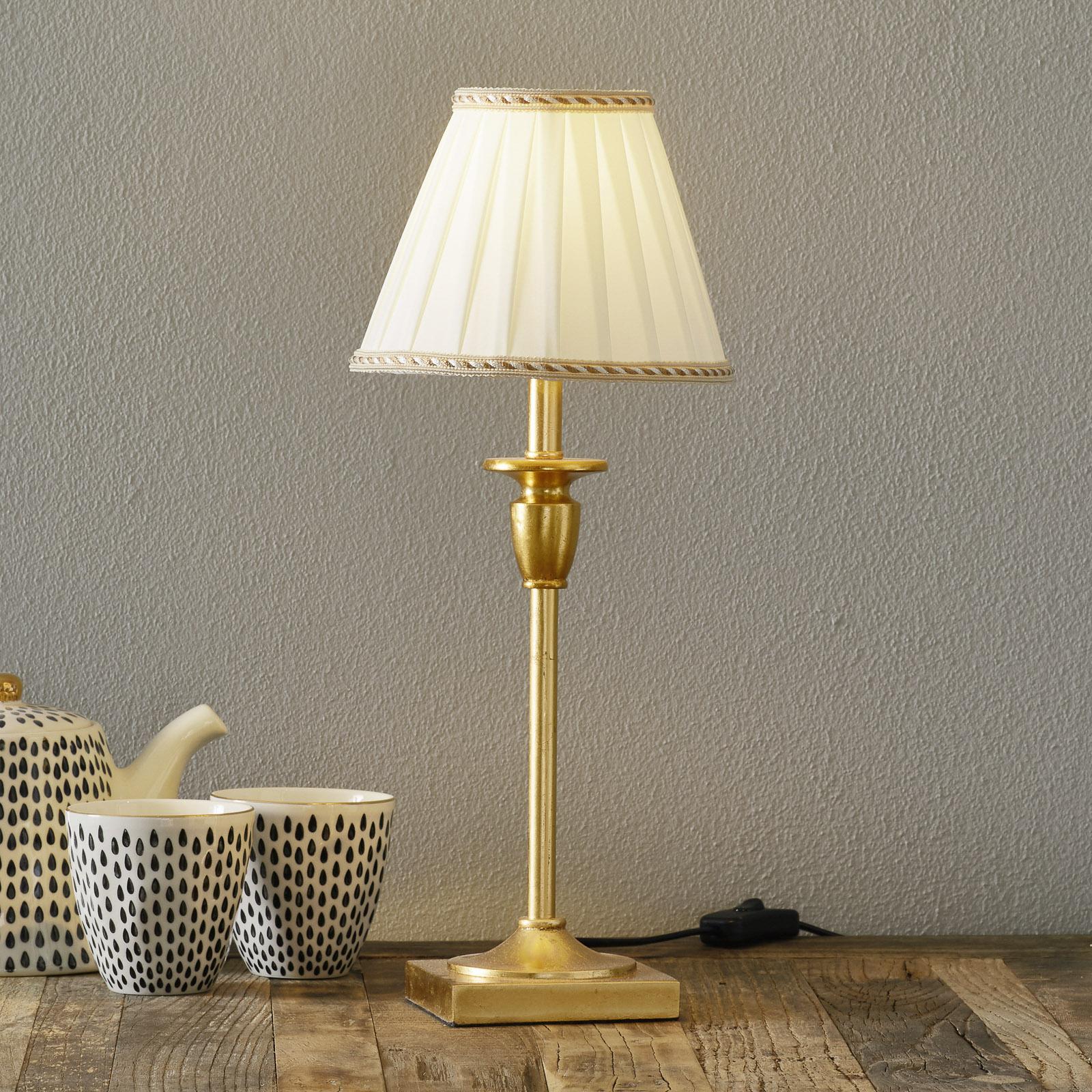 Tyylikäs pöytälamppu DONATA, Ø 17,8 cm