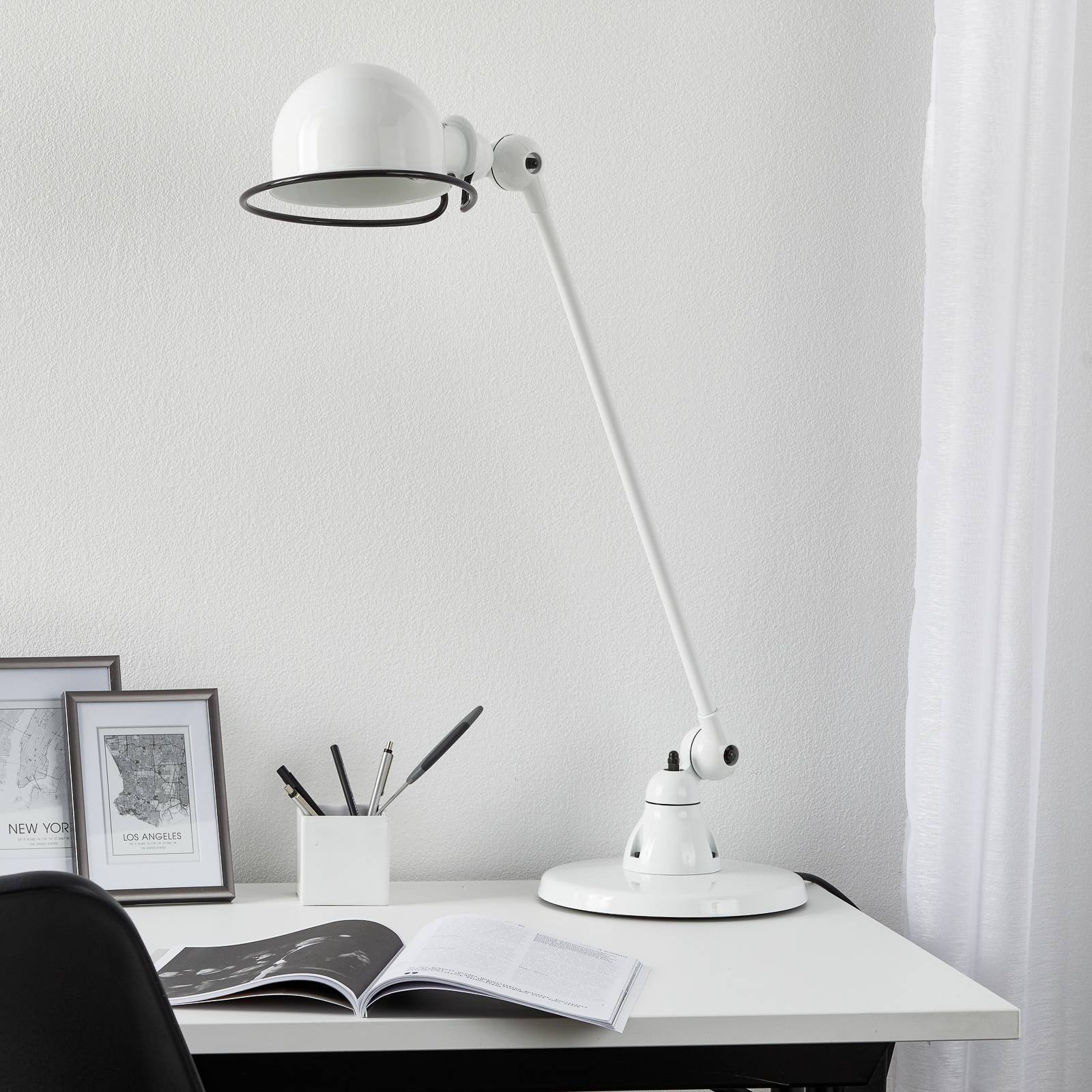 Jieldé Loft D6000 bordlampe, hvit