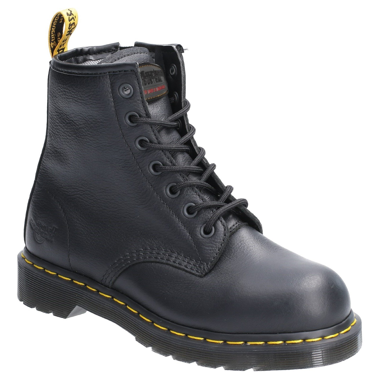 Dr Martens Women's Maple Zip Lace Up Safety Boot Various Colours 29515 - Black 6