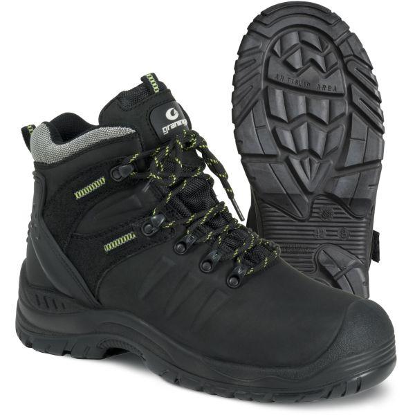 Graninge 7298 Vernestøvler S3 SRC, svart, metallfri 35