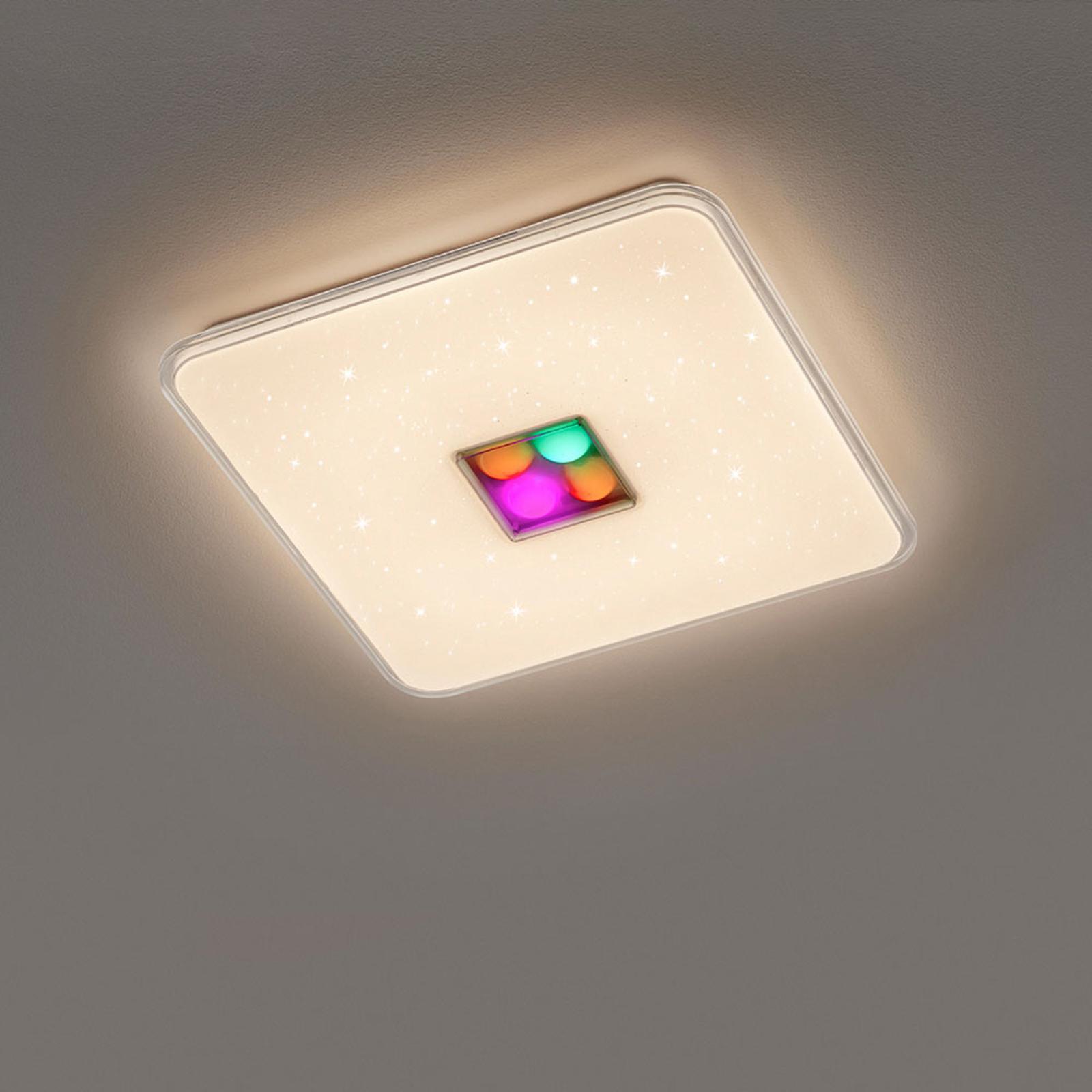 LED-kattovalaisin Ogasaki, RGBW, kaukosäädin, 42cm
