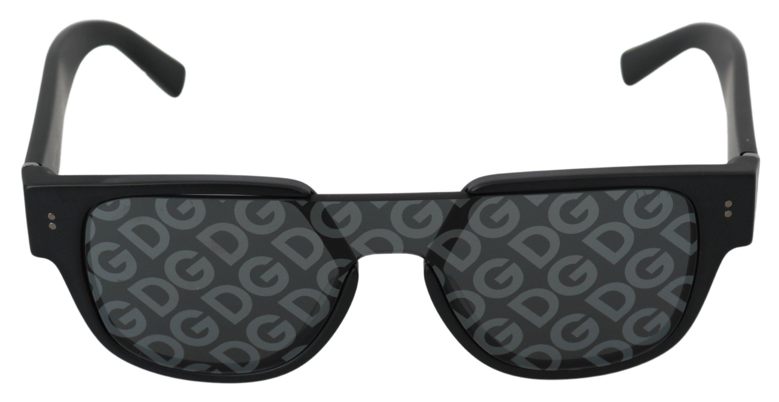 Dolce & Gabbana Women's Logo Pattern Lenses Sunglasses Black GLA764