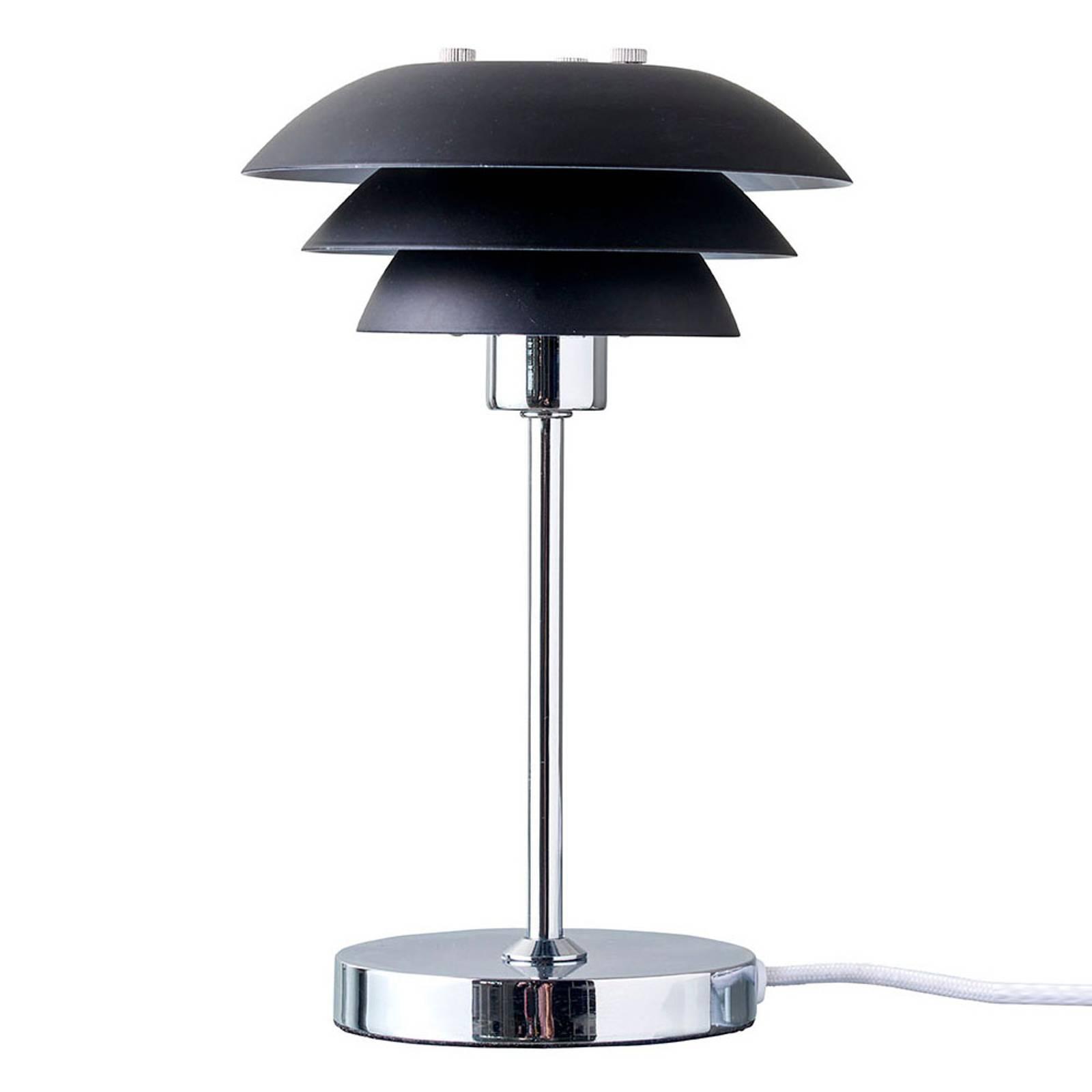 Dyberg Larsen DL16 -pöytälamppu Ø 16 cm, musta