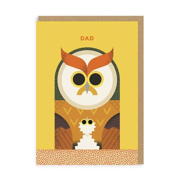 Dad Owl Greeting Card