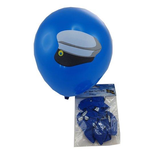 Latexballonger Blåa med Studentmössa - 12-pack