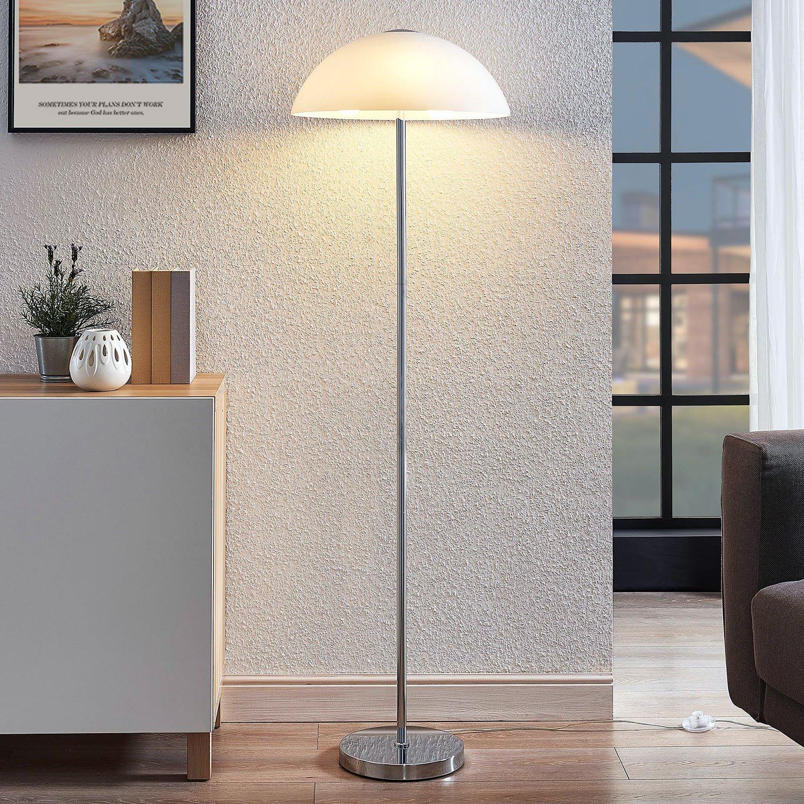 Lucande Lourenco opalglass-gulvlampe