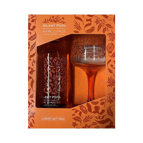 Silent Pool Rare Citrus Gin Gift Set With Glass 50cl