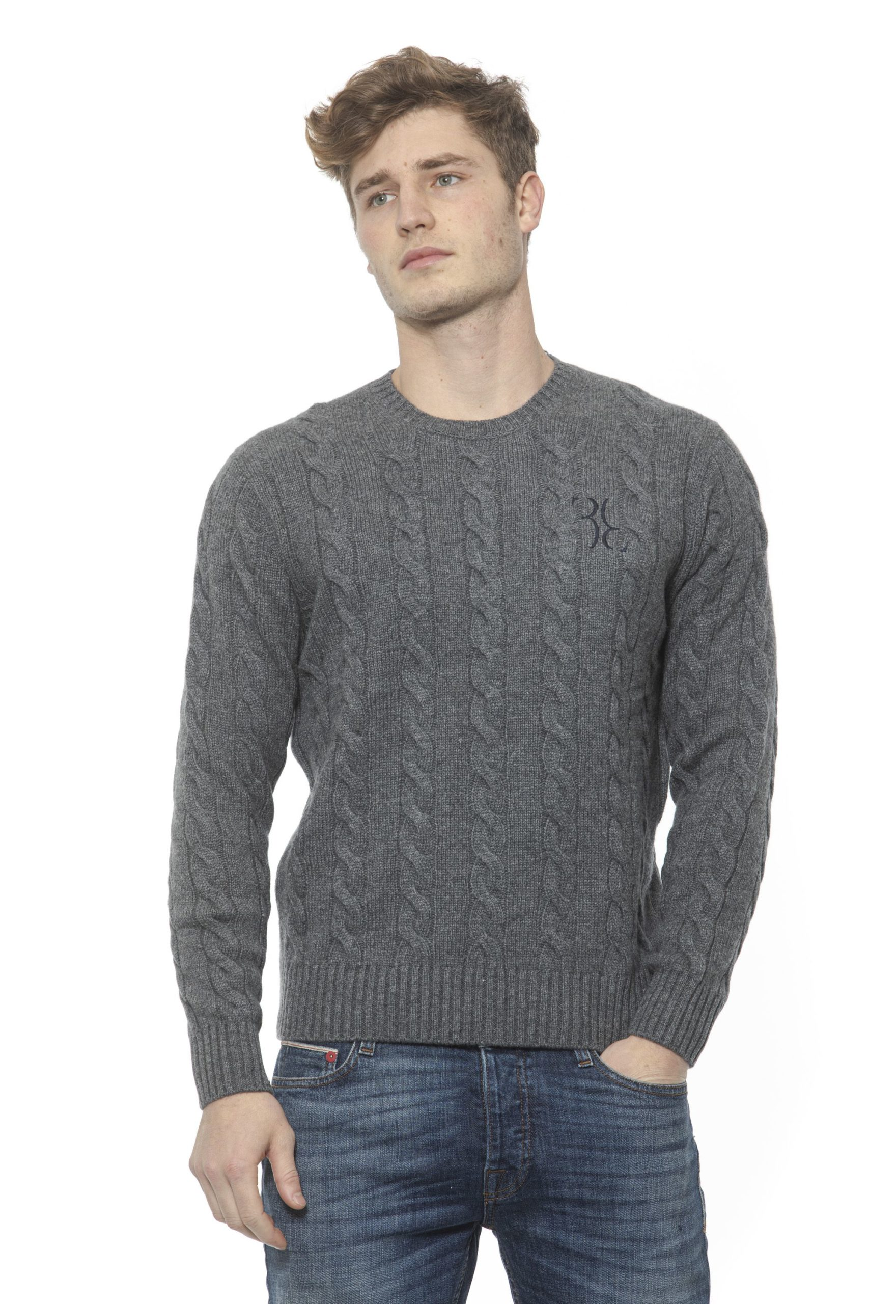 Billionaire Italian Couture Men's Grigio Sweater Grey BI1313440 - S
