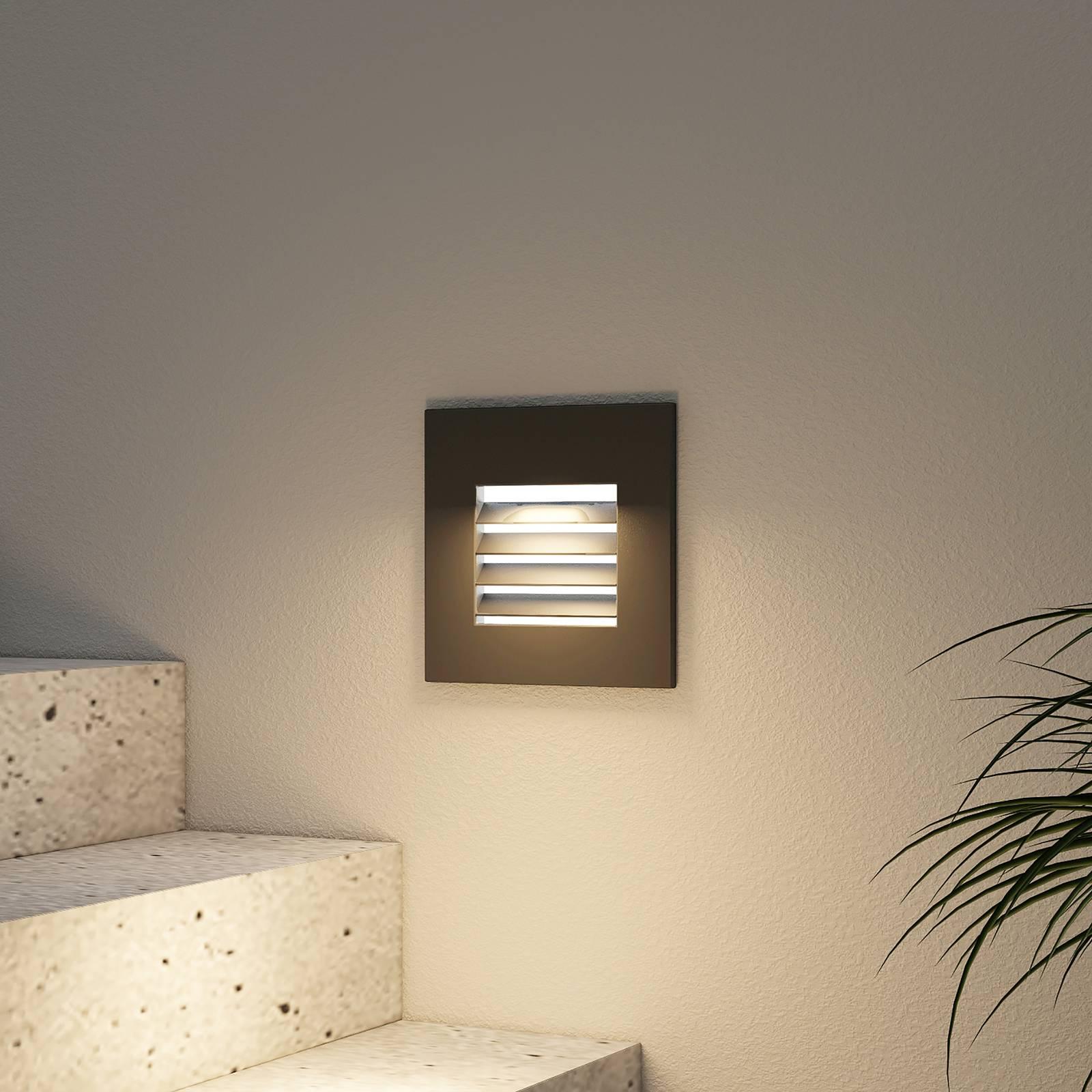 Arcchio Makio -LED-uppovalaisin, musta