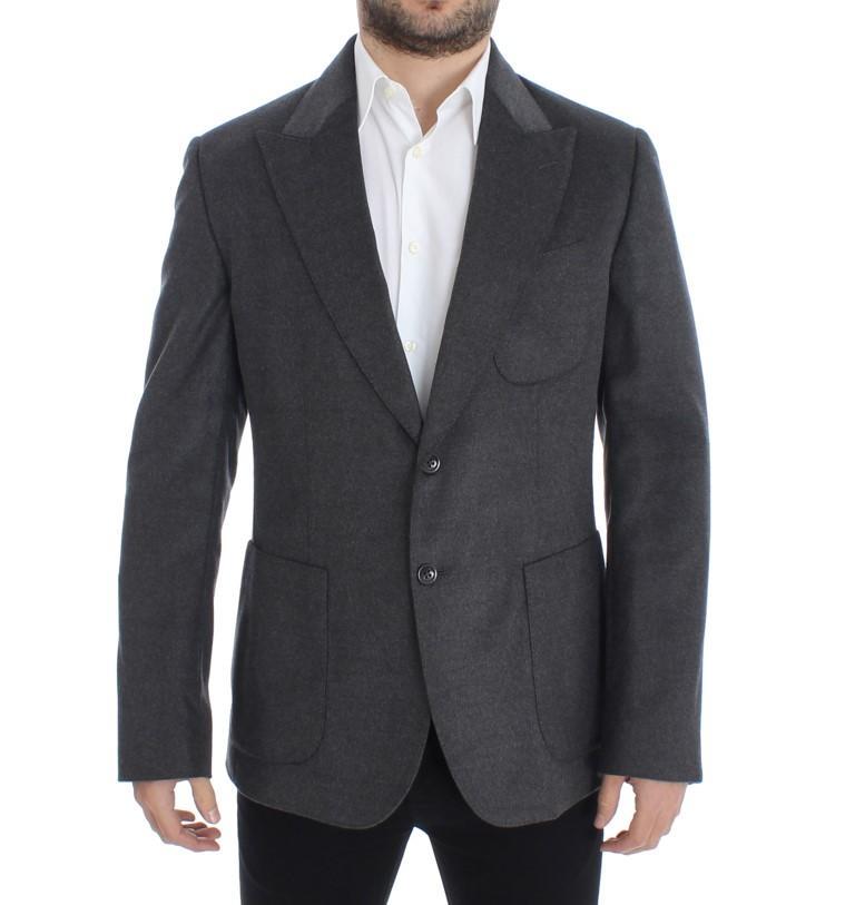 Dolce & Gabbana Men's Silk two button Blazer Gray SIG12239 - IT48 | M