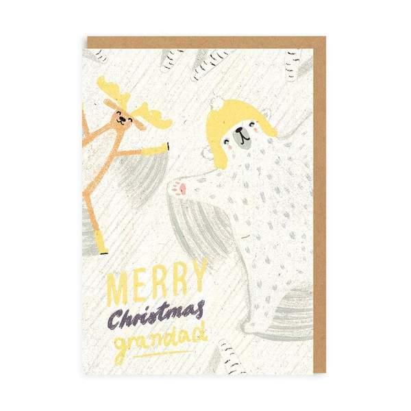 Grandad Snow Angel Christmas Card