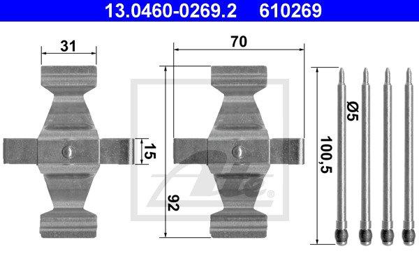 Tarvikesarja, jarrupala ATE 13.0460-0269.2