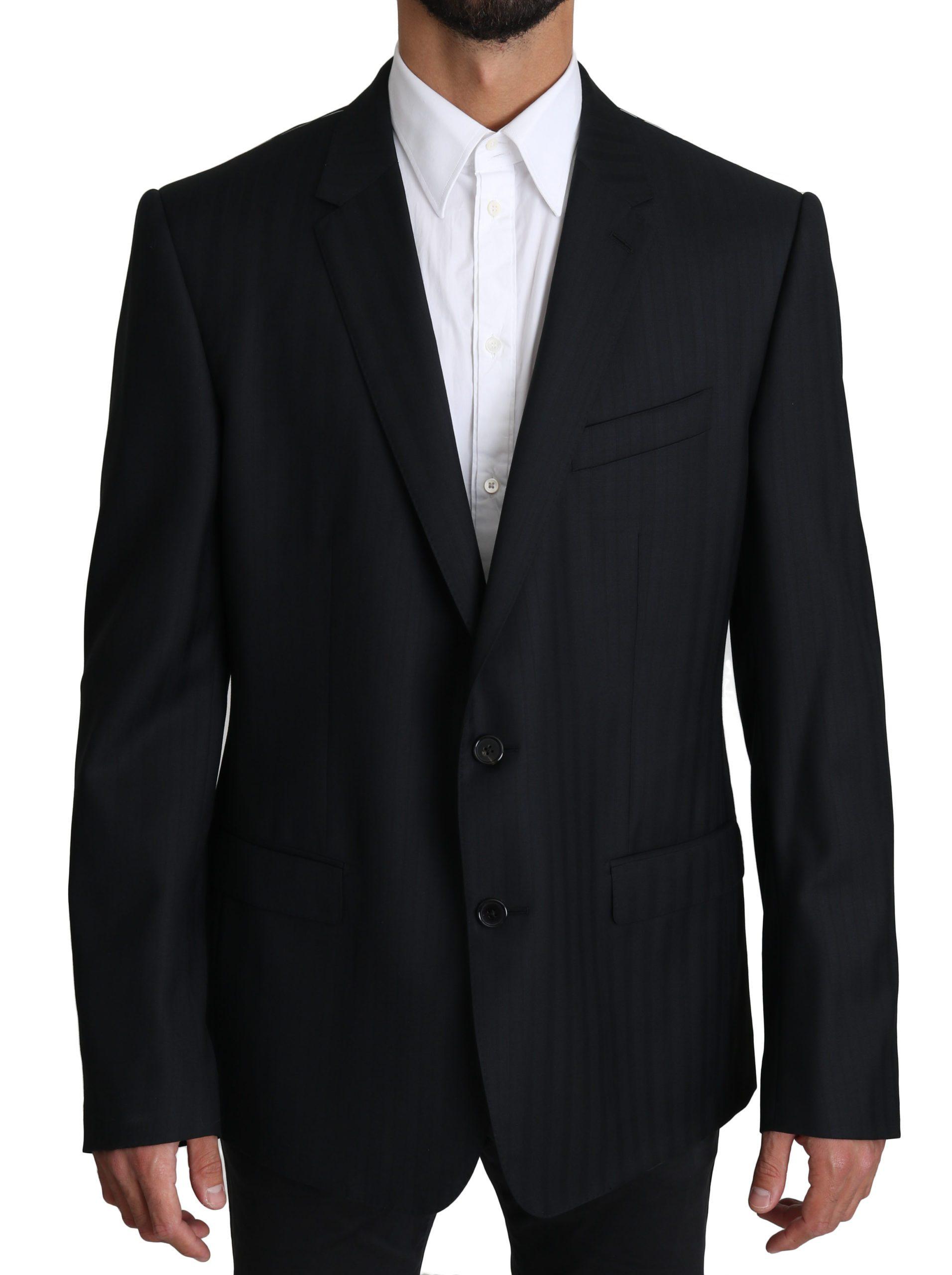 Dolce & Gabbana Men's Patterned Wool MARTINI Blazer Blue KOS1557 - IT54   XL