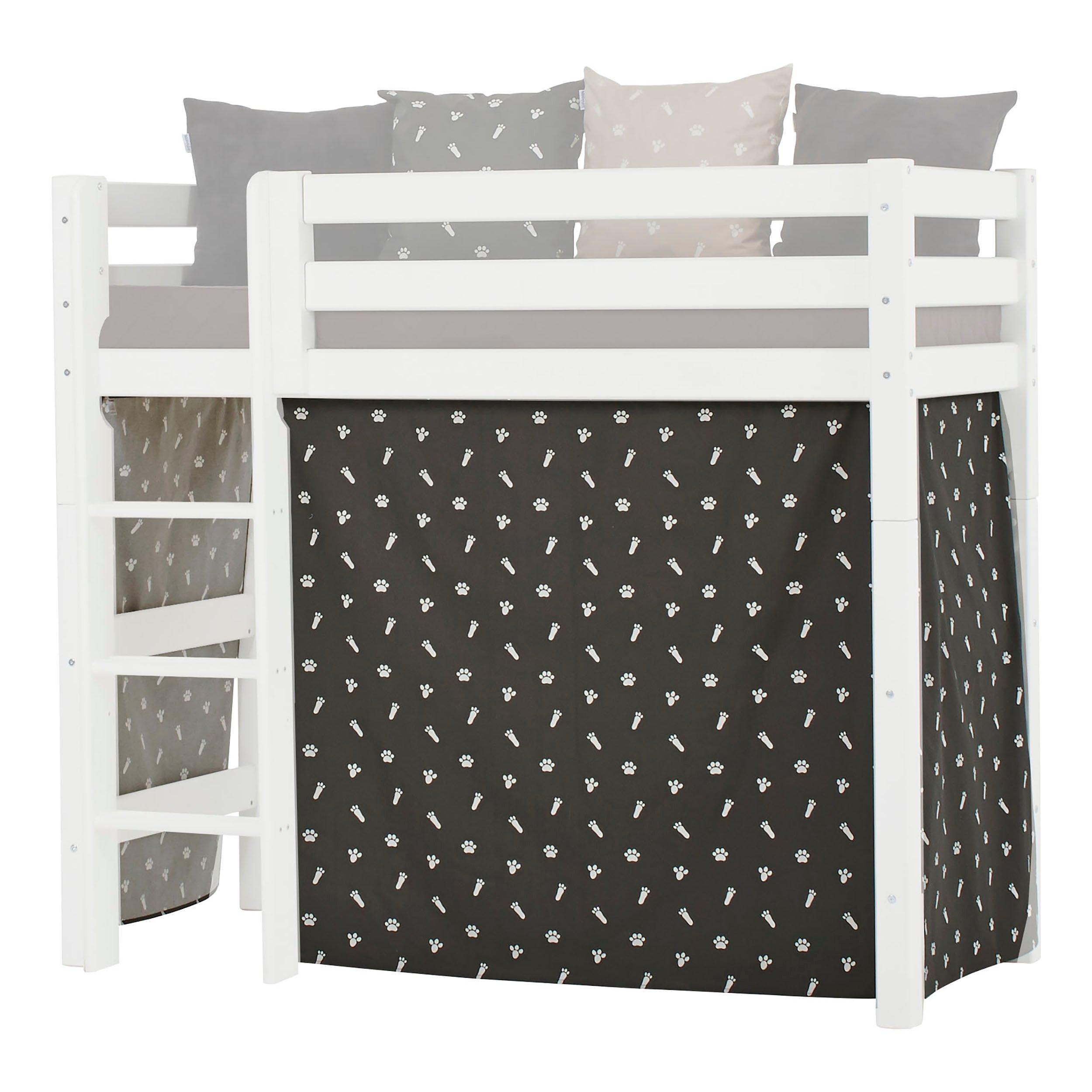 Hoppekids - Play Curtain Mid-High Bed 70x160 cm - Pets Granite Grey