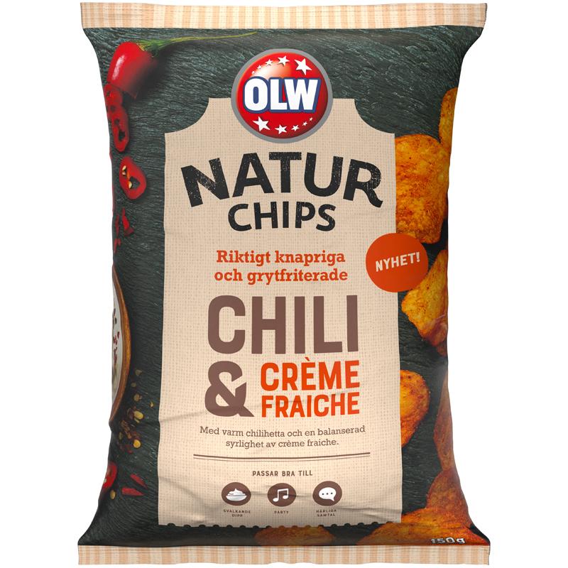 Naturchips Chili & Creme Fraiche - 25% rabatt