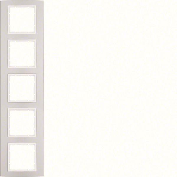 Hager 10153904 Peitekehys pysty- ja vaakasuoraan asennukseen Valkoinen, 5-paikkainen