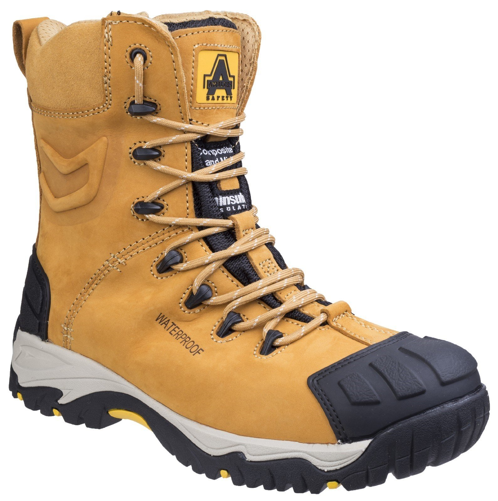 Amblers Unisex Safety Waterproof Lace up Boot Honey 21517 - Honey 12