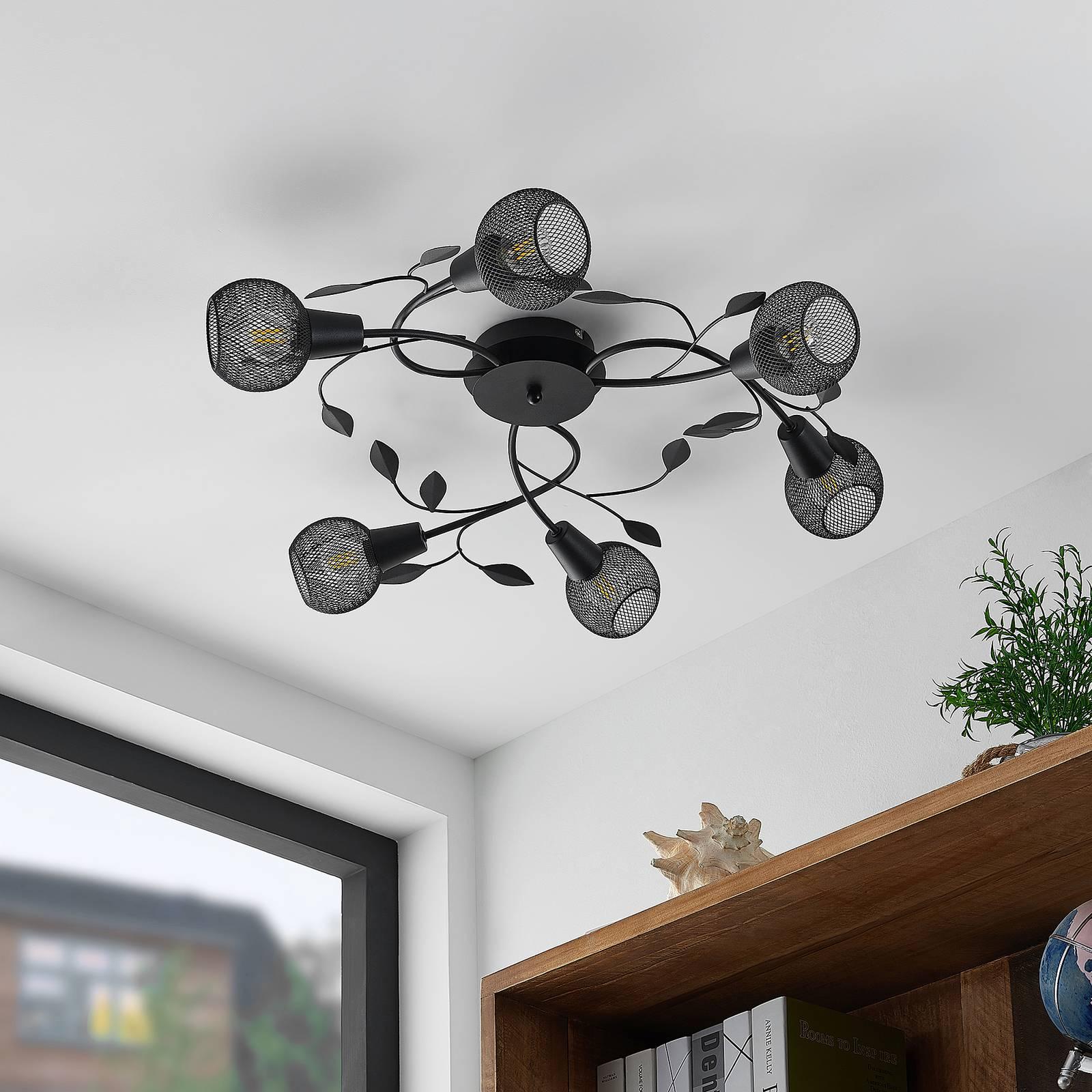 Lindby Kanye -kattovalaisin, 6-lamppuinen