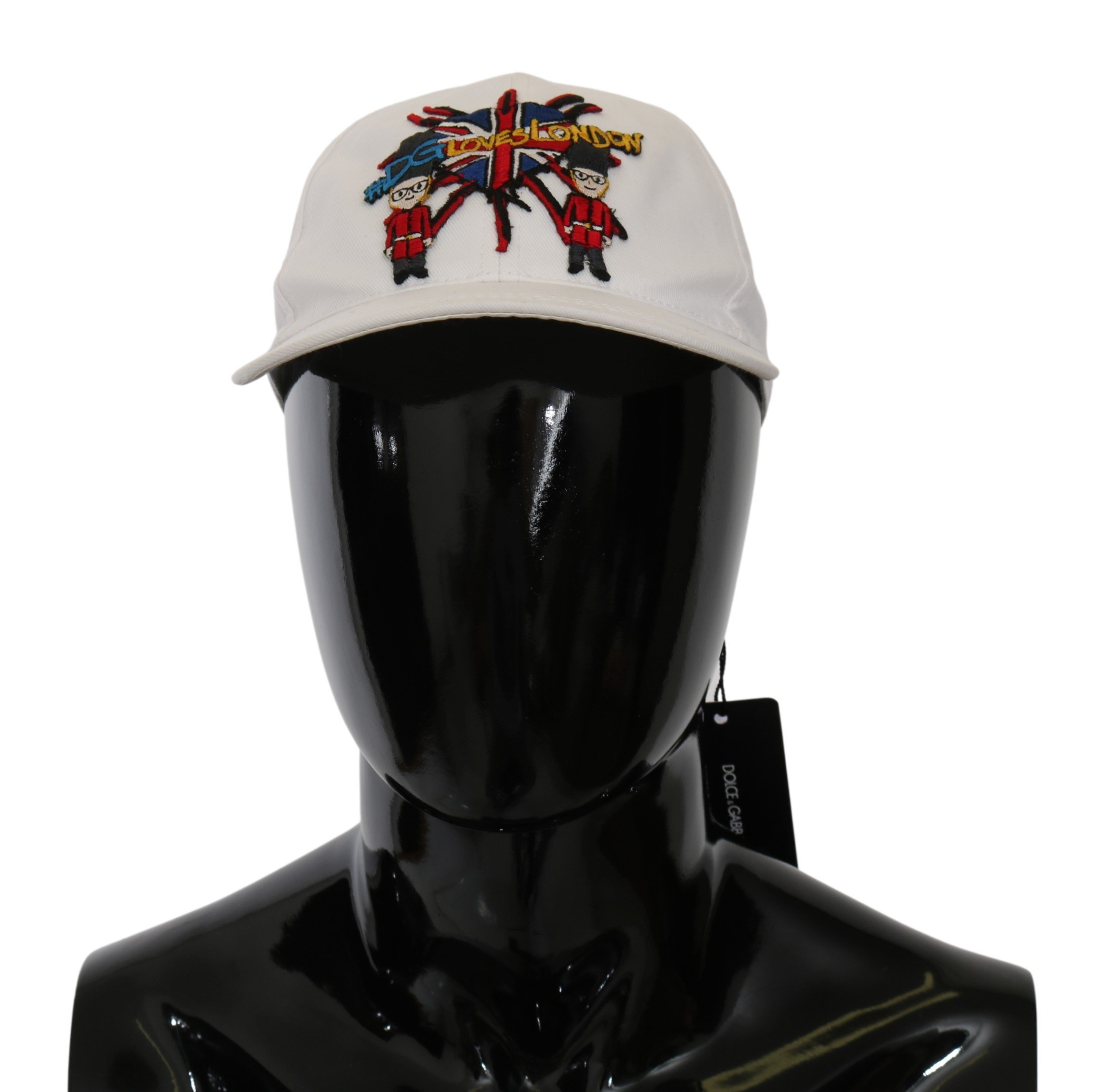 Dolce & Gabbana Men's #DGLovesLondon Baseball Cotton Cap White HAT20053 - 58 cm|M