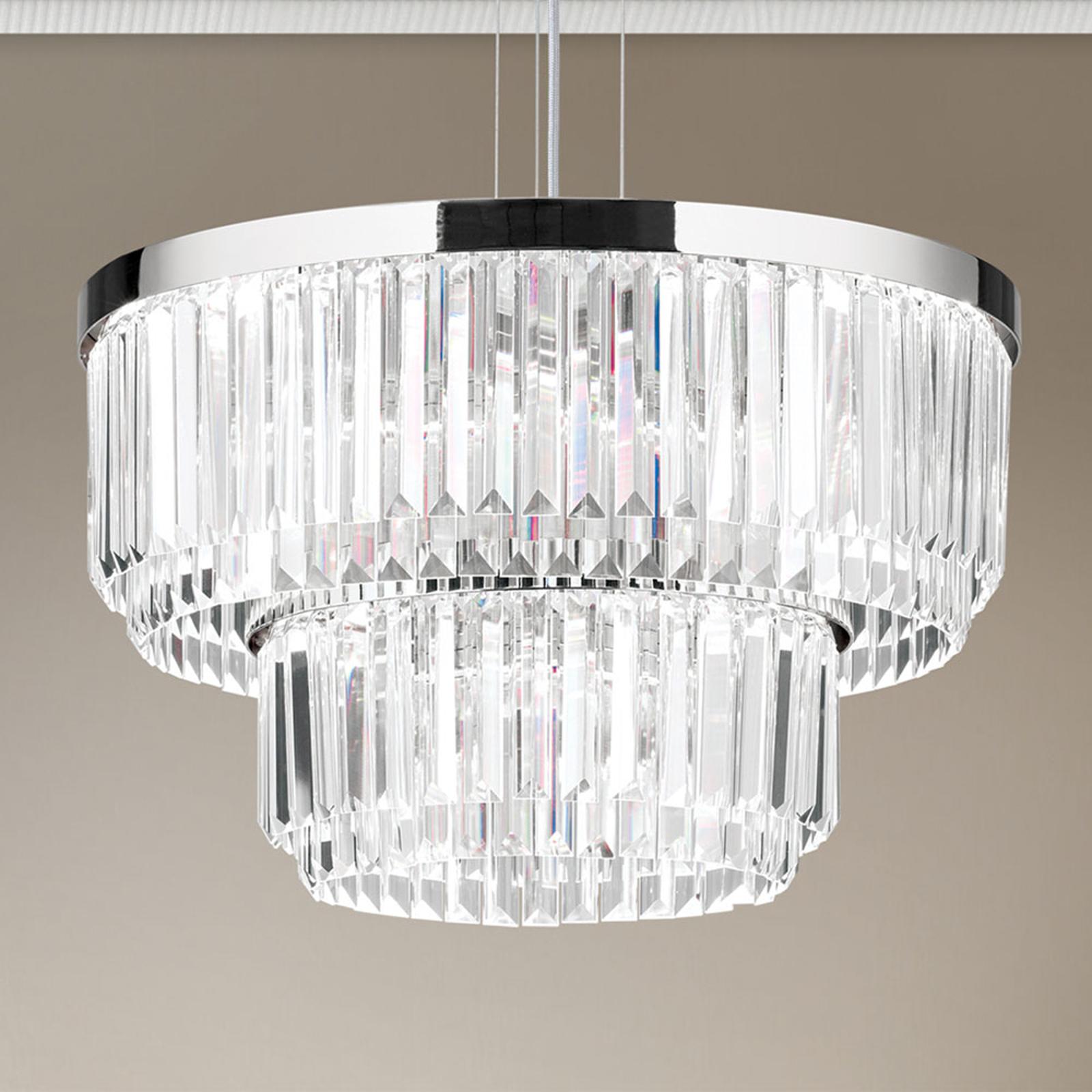 LED-riippuvalaisin Prism, pyöreä, kromi