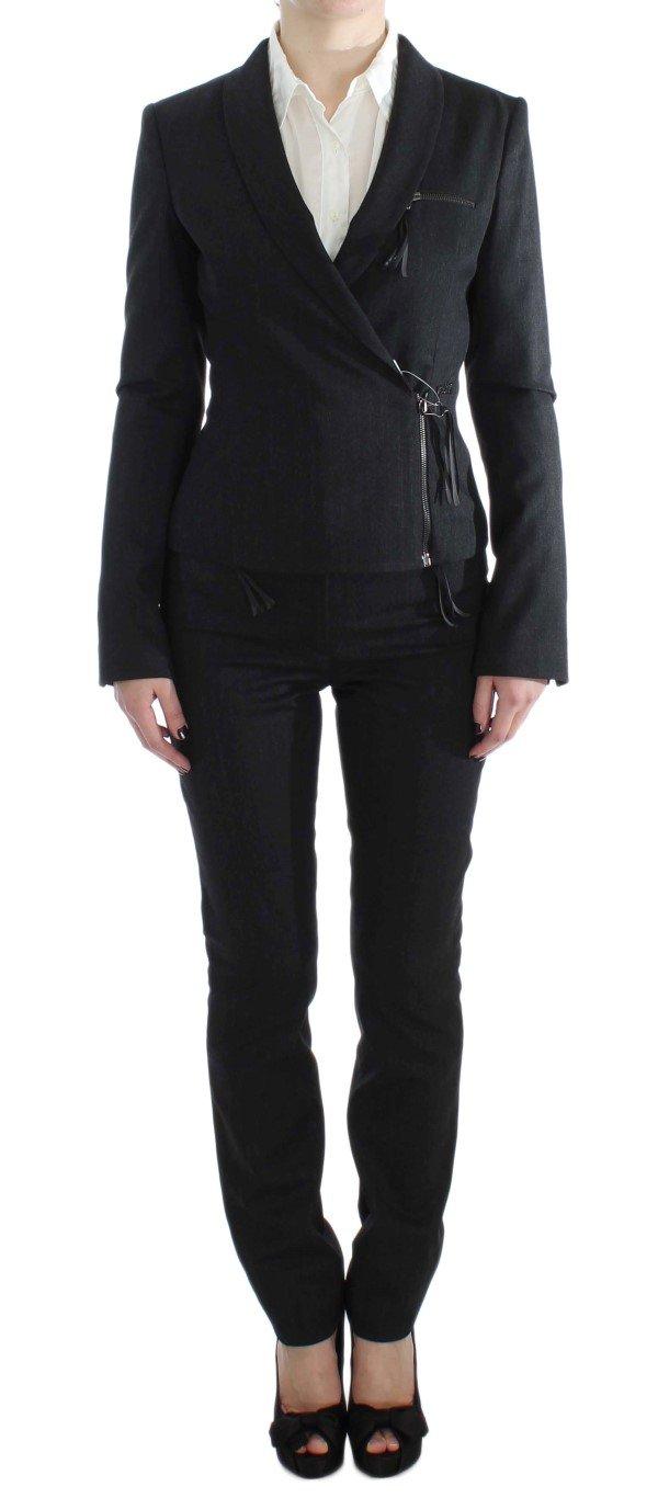 Exte Women's Two Piece Zipper Suit Gray SIG30909 - IT42|M