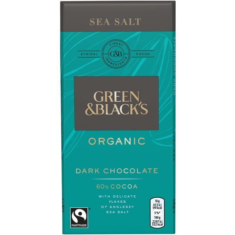 Eko Mörk Choklad 60% Havssalt - 36% rabatt