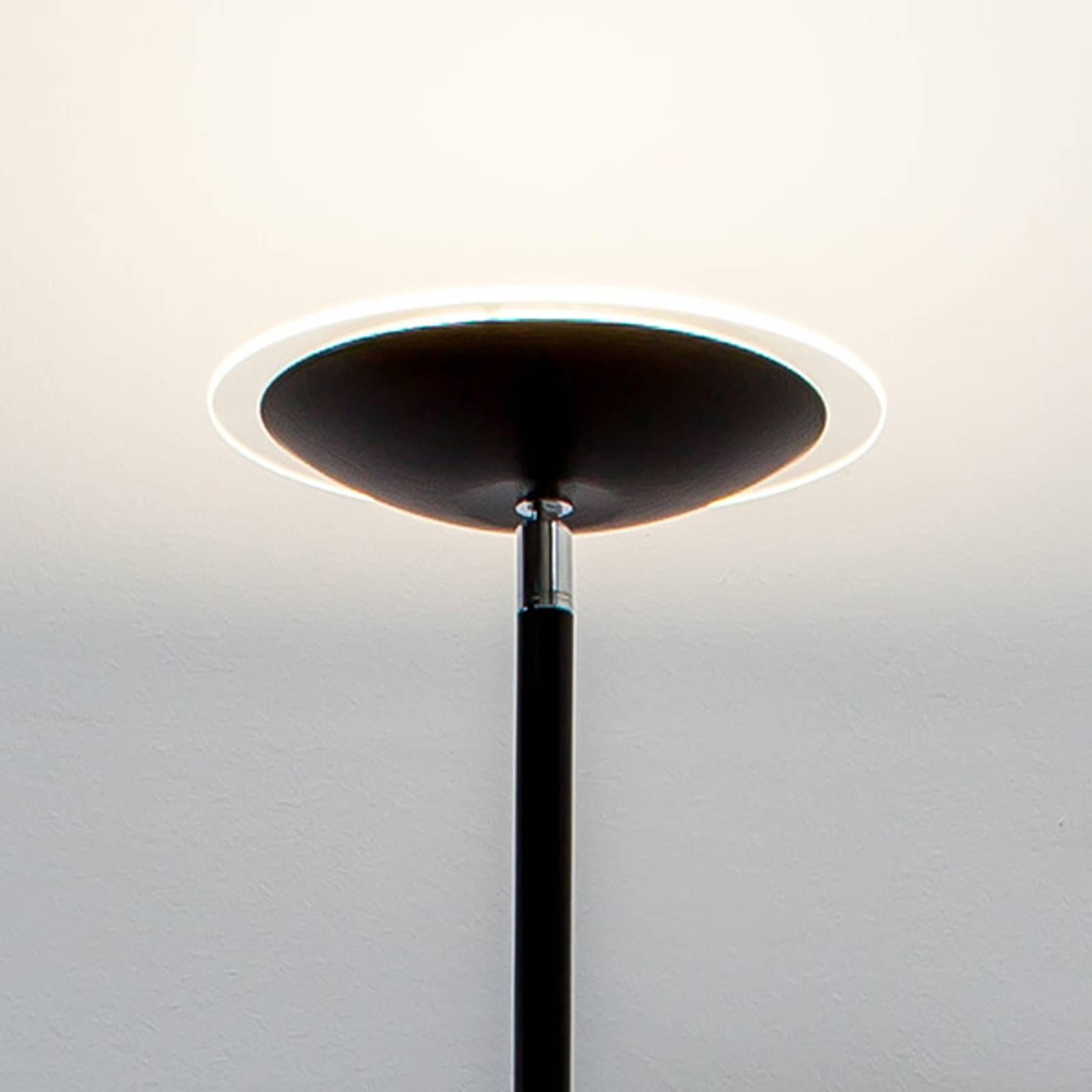 Musta LED-lattiavalaisin Malea