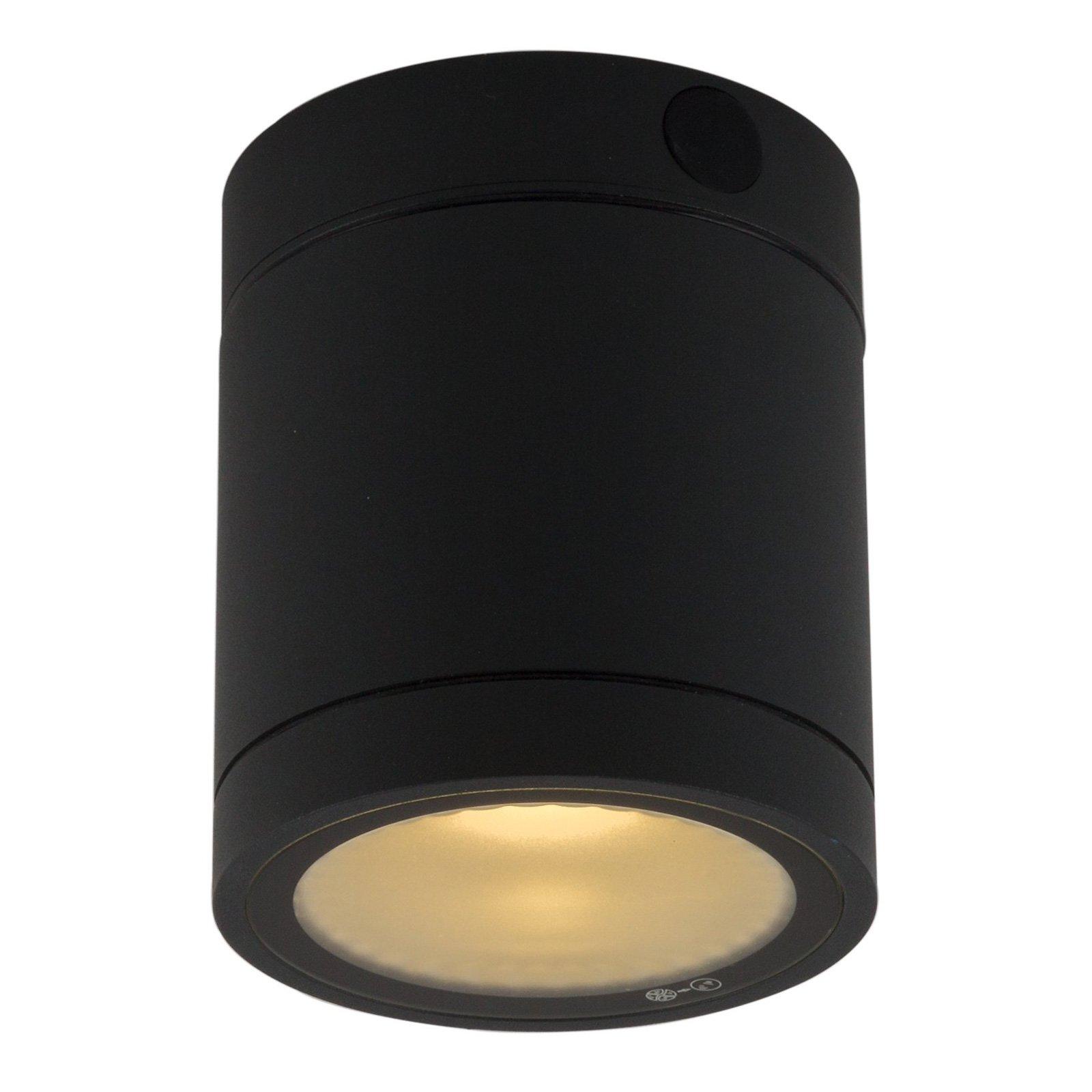 LED-taklampe Negro for utebruk