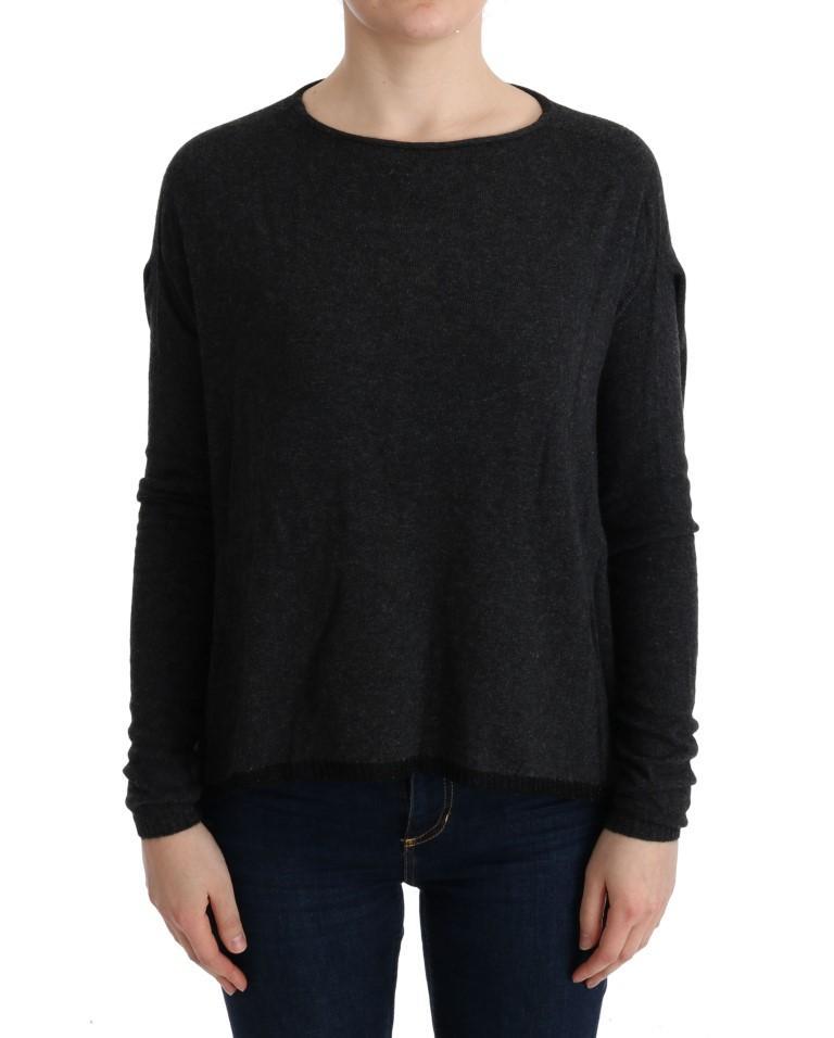 Costume National Women's Viscose Knitted Sweater Gray TUI10017 - XS