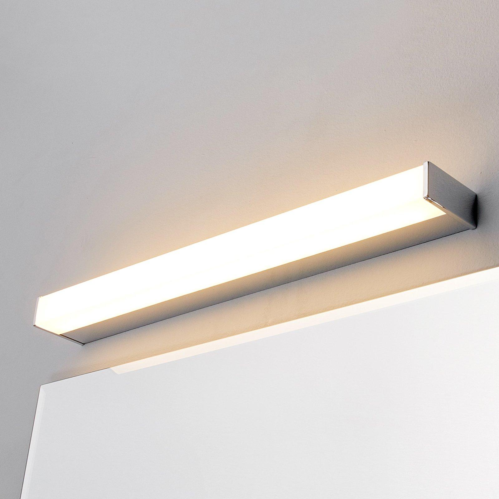 LED-bad- og speillampe Philippa kantet 58,8cm